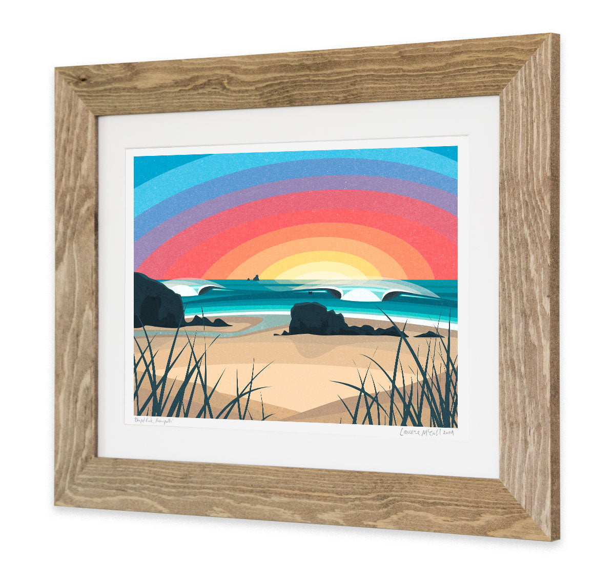 Chapel Rock Perranporth print in frame