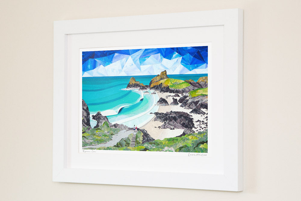 Kynance Cove prints by Cornish artist Laurie McCall
