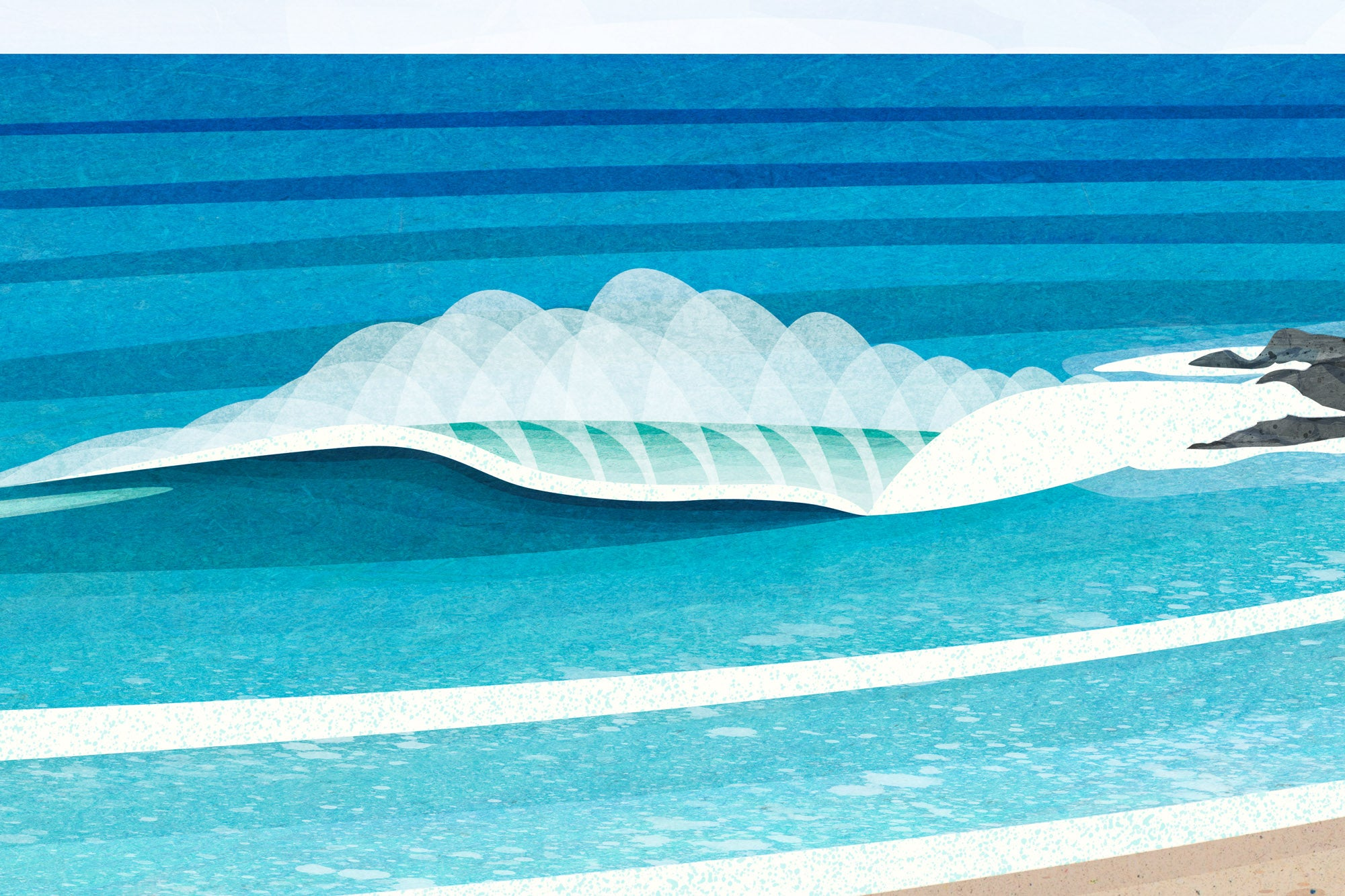 Porthmeor, St Ives, Cornwall. Prints by Laurie McCall