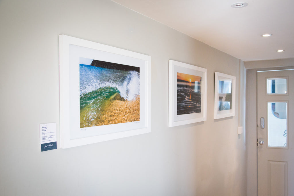 Laurie McCall surf wave art photography exhibition - The Rockpool, Godrevy Hayle Cornwall