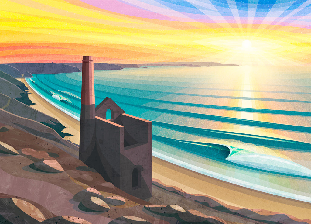 Wheal Coates print by Laurie McCall