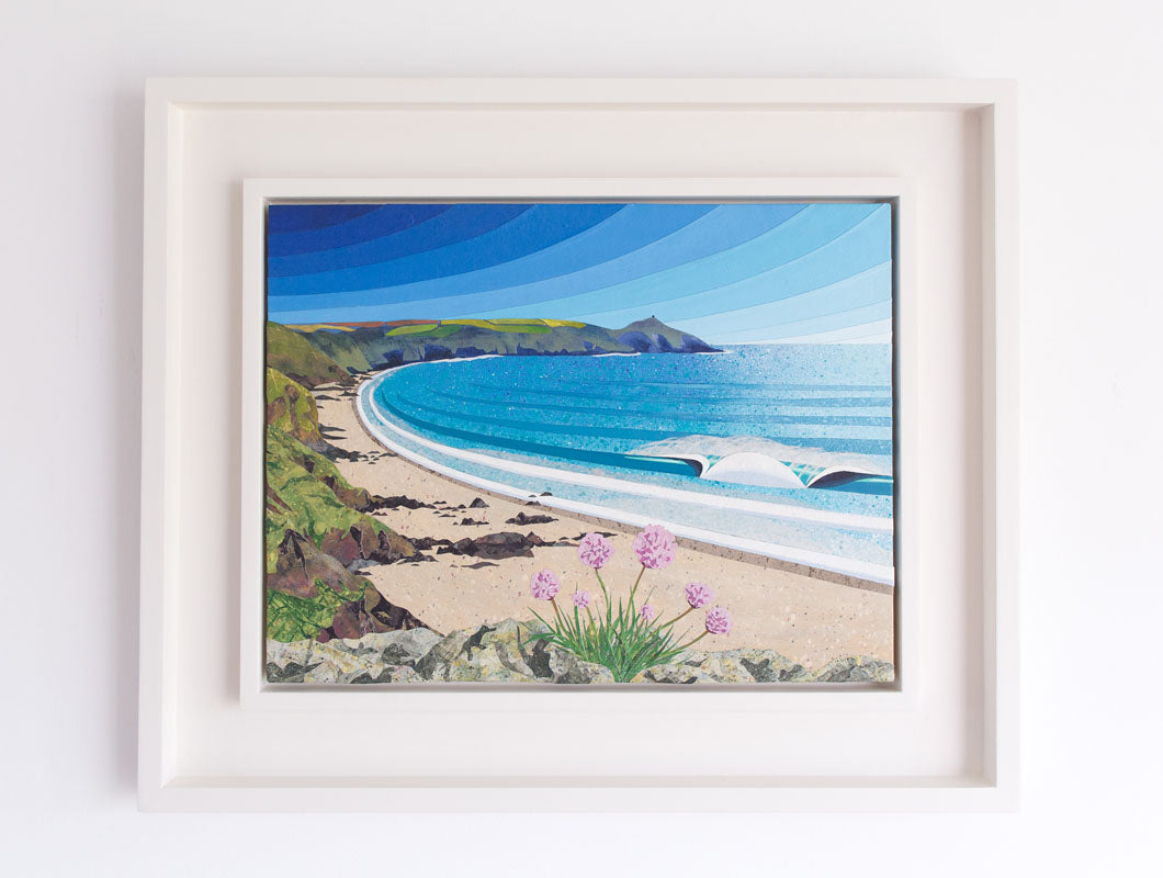 Whitsand Bay collage by Laurie McCall