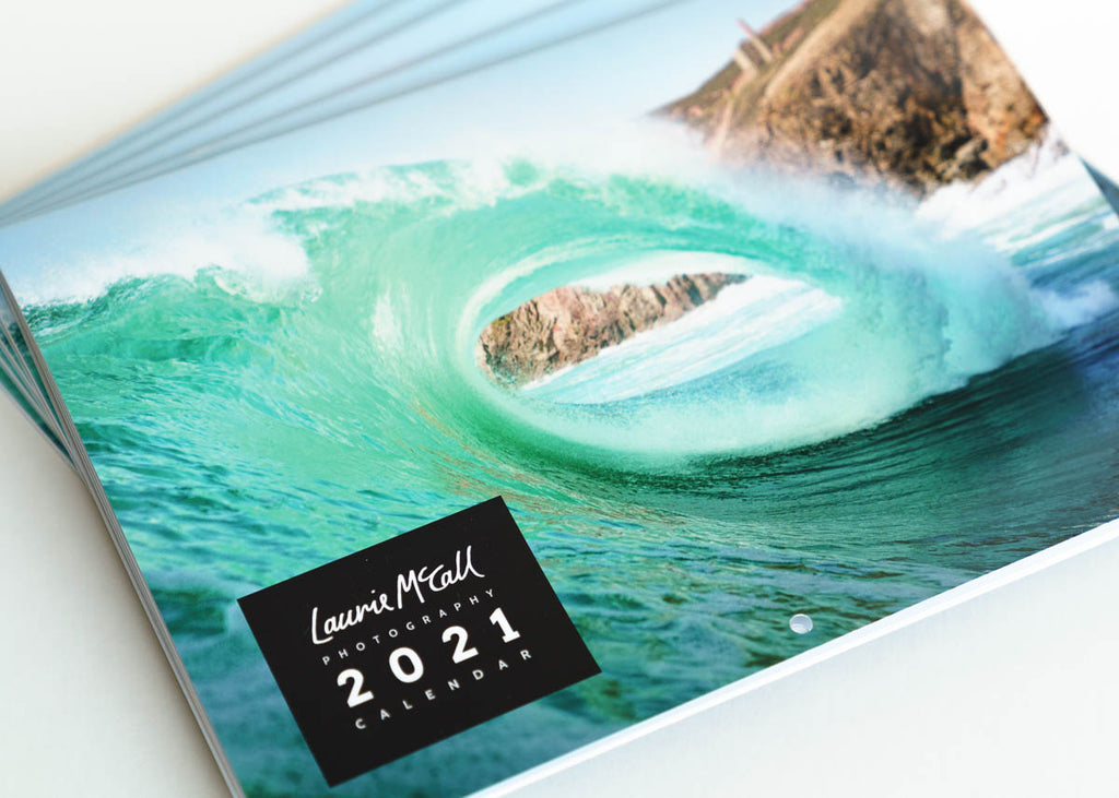 Laurie McCall Photography Cornish Surf Beach Wave Wall Calendar 2021