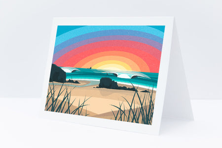 'Chapel Rock, Perranporth' Greeting Card