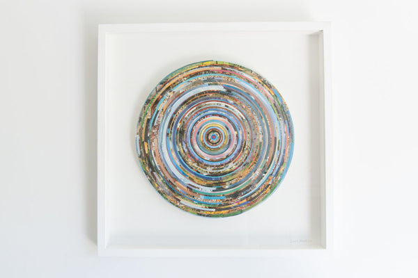 'Large Circular Collage' Original Collage