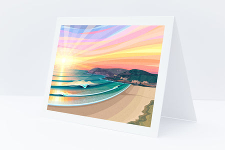 'Croyde Bay' Greeting Card