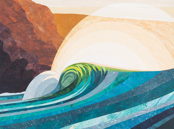 'Evening Wave' Original Collage (Sold)