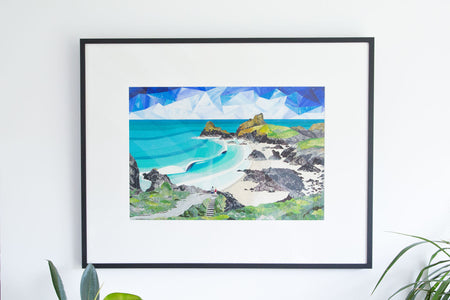 'Kynance Cove' Original Collage