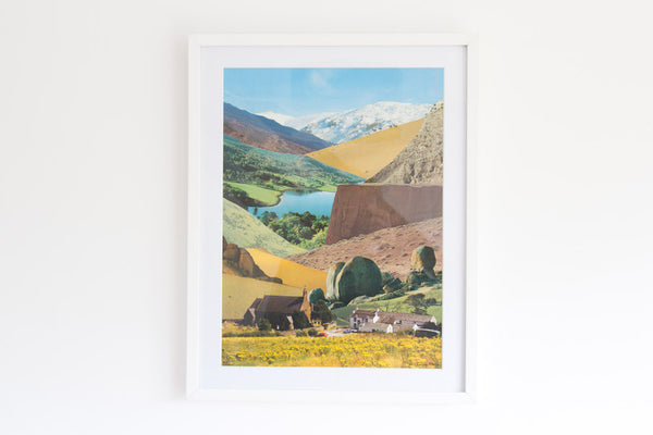 'Landscape' Original Collage