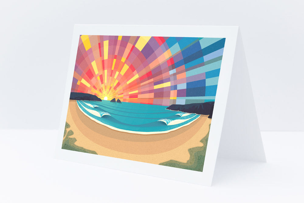 'Holywell Bay' Greeting Card