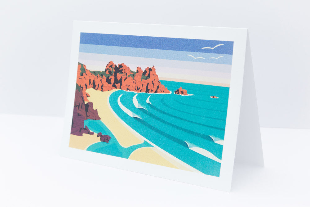 'Logan Rock' Greetings Card