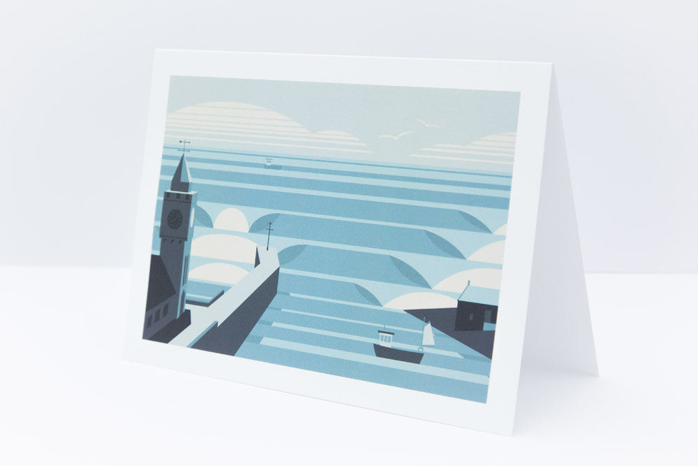 'Porthleven' Greetings Card