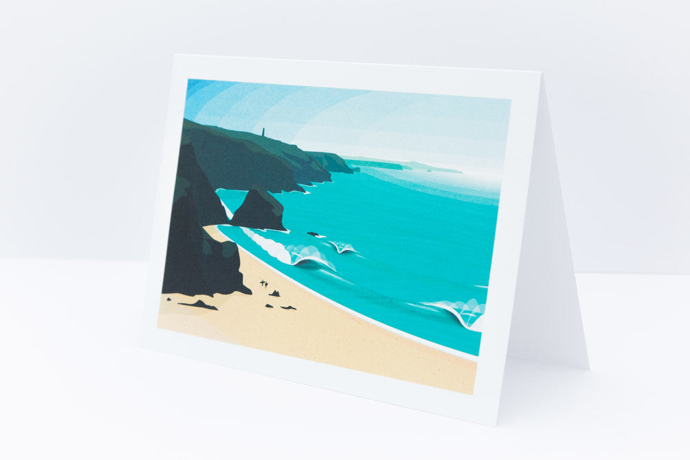 'Porthtowan' Greeting Card