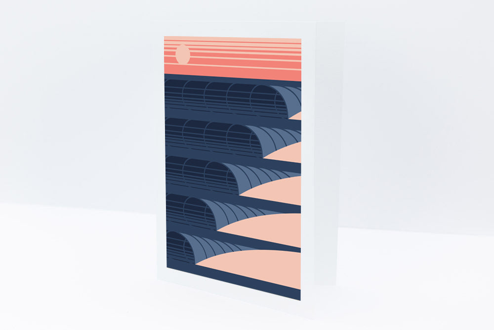'Sunset Waves' Greeting Card