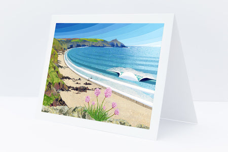 'Whitsand Bay' Greetings Card