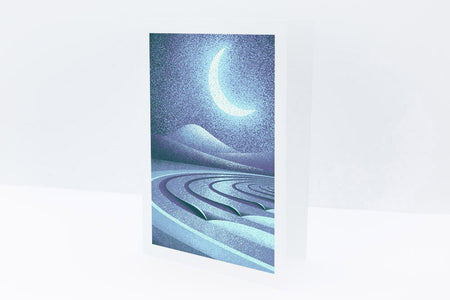 'Lunar Lines' Greetings Card