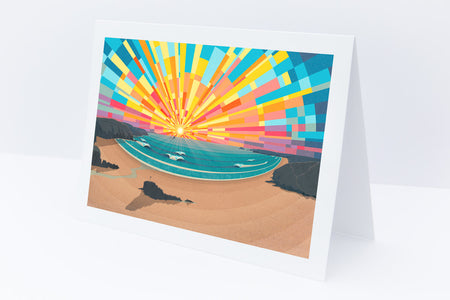 'Perranporth Beach' Greetings Card