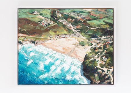 'Porthtowan' Framed Oil Painting