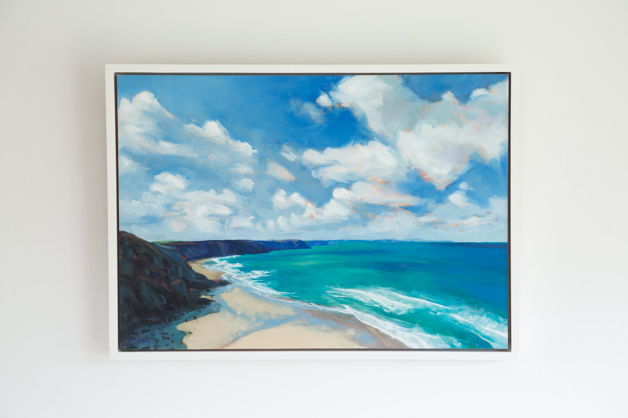'Porthtowan' Original Oil Painting (SOLD)
