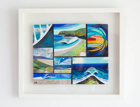 'Many Waves #2' Original Collage (SOLD)