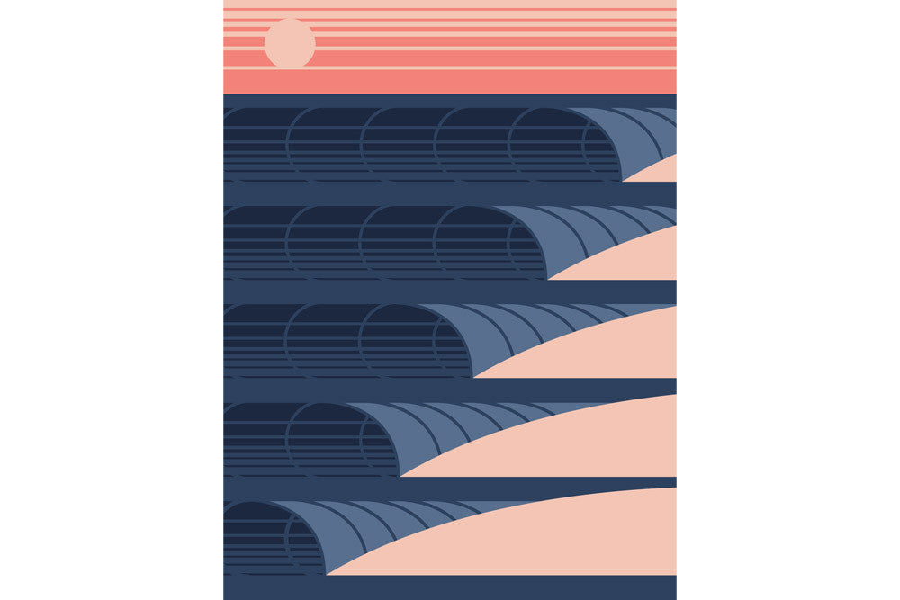 'Sunset Waves' Fine Art Print