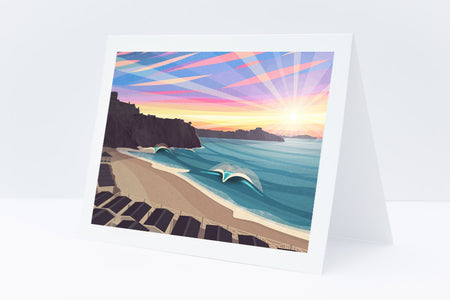 'Tolcarne Beach, Newquay' Greetings Card
