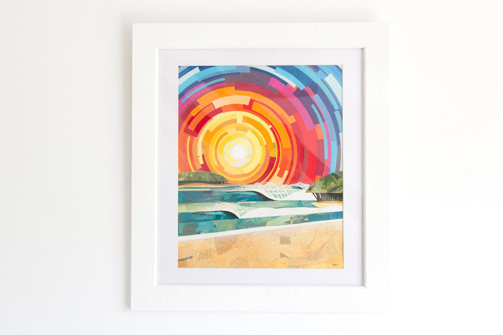 'Tropical Sunset' Original Collage (SOLD)