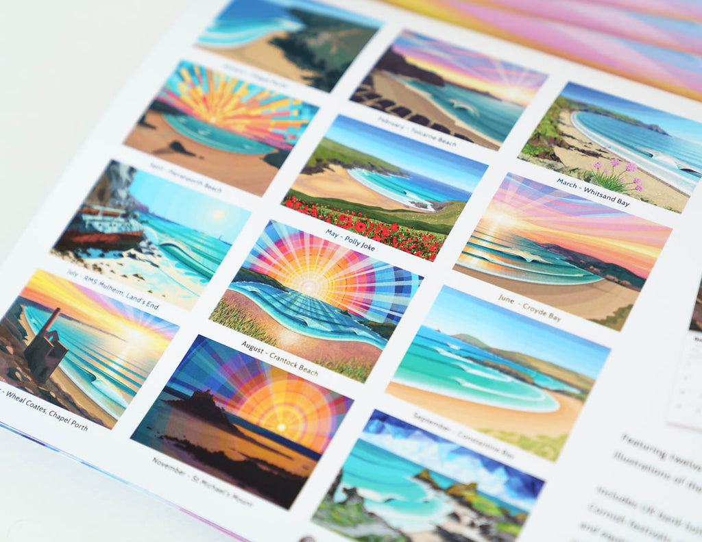 Laurie McCall Art Cornwall beaches calendar 2021