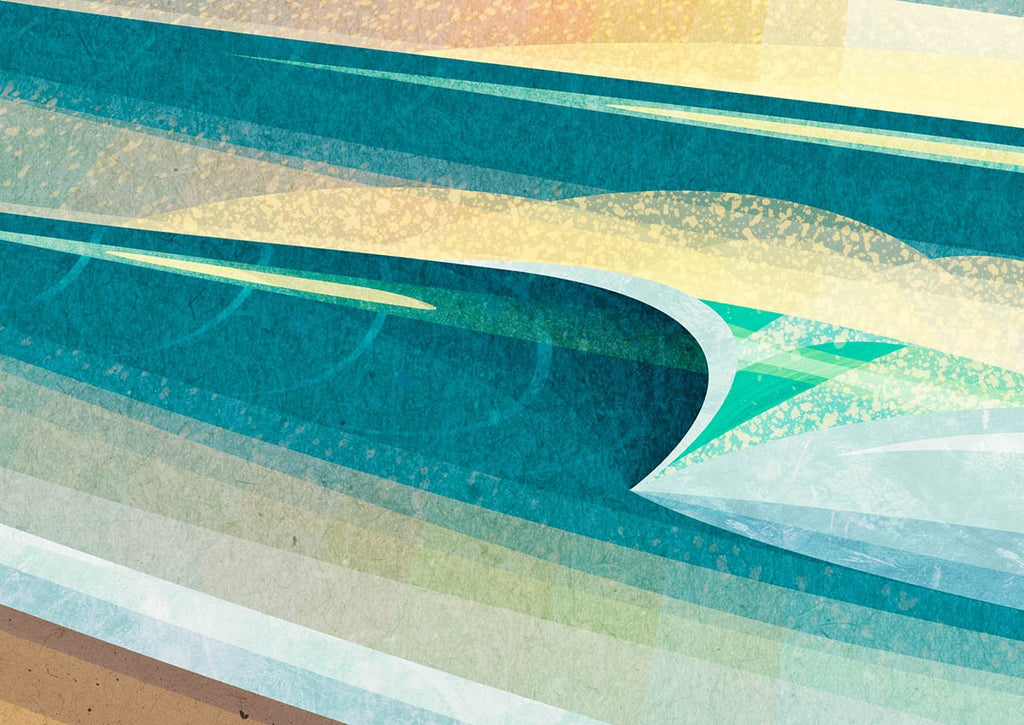 Detail of a breaking wave in Wheal Coates, Chapel Porth print by Laurie McCall