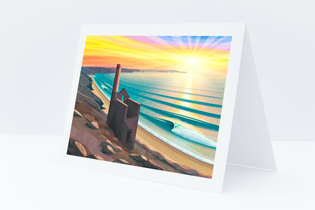 'Wheal Coates Chapel Porth' Greeting Card