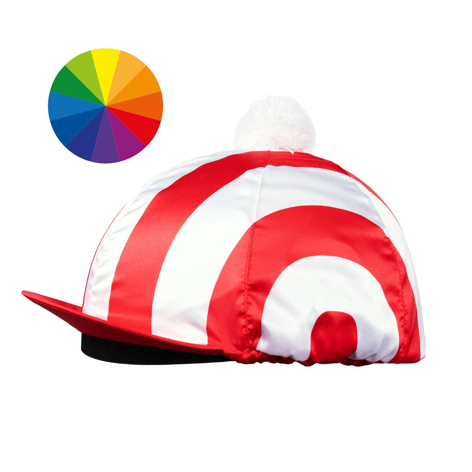 Satin Hat Cover Striped