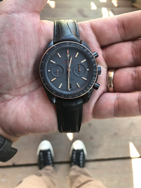 Local Love Shout Out - Omega Moonwatch Chronograph Sedna Black Ceramic
