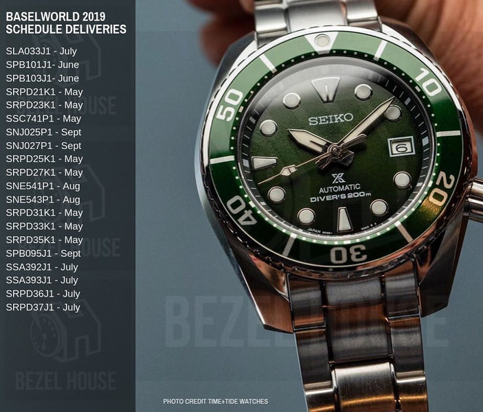 Schedule for Baselworld 2019 Seiko Releases!