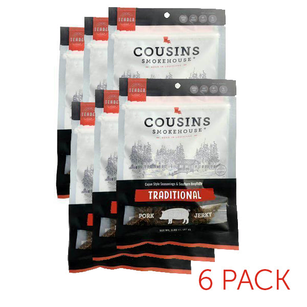 Traditional Pork Jerky 6 Pack