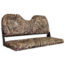 "WD309-733 Wise Outdoors 42"" Camo Fold Down Bench in Realtree Max 5"