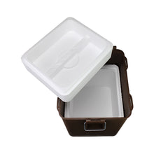 Wise Outdoors Square Bucket Inside View with Styrofoam Cooler