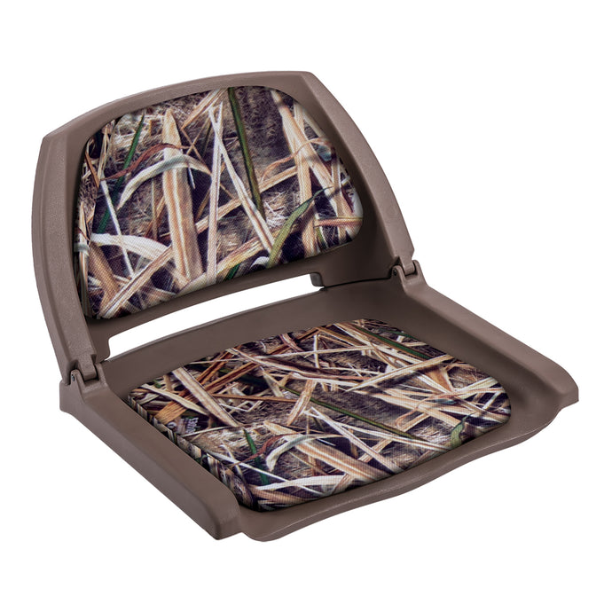 Wise Outdoors - 8WD139CLS - Camo Boat Seat w/ Padded Folding Shell