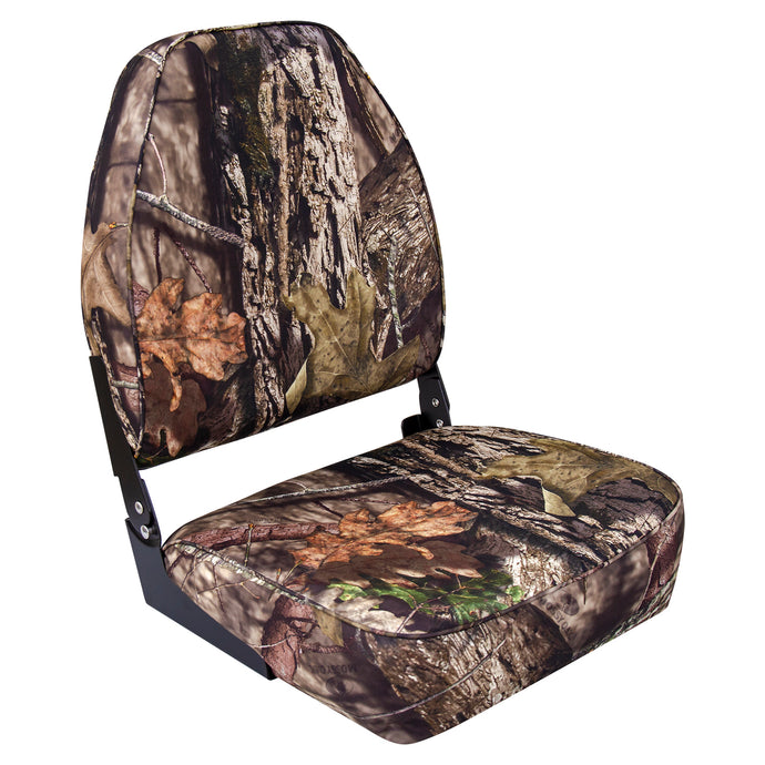 Wise 8WD617PLS-731 High Back Camo Boat Seat - Mossy Oak Break Up Country
