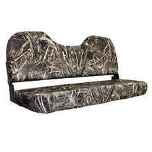 "WD308-733 Wise Outdoors 48"" Camo Fold Down Bench in Realtree Max 5"