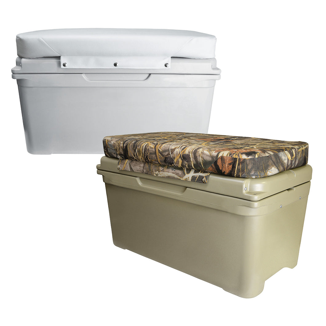 Wise Outdoors 8WD1516-733 Premium 65 Qt Cooler Cushion Realtree Max 5 Camo The Wise Company