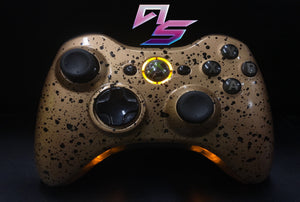 Custom Xbox 360 Controller: Black Gold