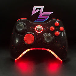 Black and Splatter Red Xbox 360 Controller