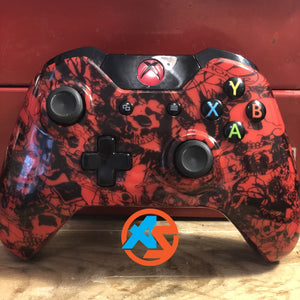Red Skull Xbox One Controller - AquaSilvermist