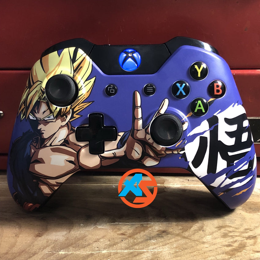 Dragon Ball Xbox One Controller - AquaSilvermist