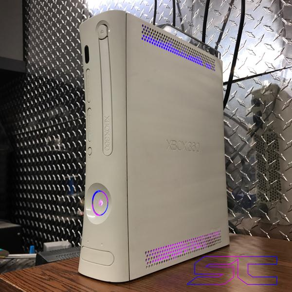 Custom Xbox 360 White Jasper RGH1.2 - LEDs of Your Choice! - AquaSilvermist