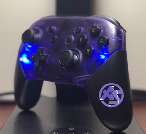 Custom Nintendo Switch Pro Controller - AquaSilvermist