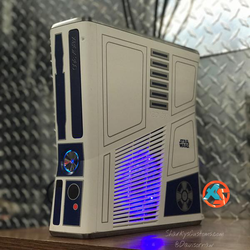 Custom Limited Edition Star Wars Xbox 360 Slim RGH2 (LEDs of Your Choice) - AquaSilvermist