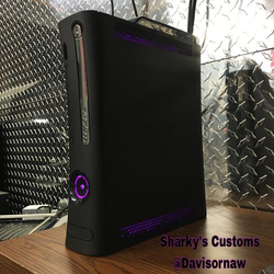 Custom Xbox 360 Black Falcon Elite RGH1.2 - LEDs of Your Choice! - AquaSilvermist
