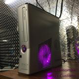 Custom Limited Edition Halo Reach Xbox 360 Slim RGH2 - (LEDs of Your Choice) - AquaSilvermist