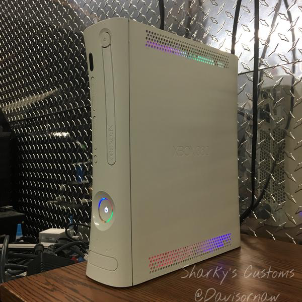 Custom Xbox 360 White Falcon RGH1 2 - LEDs of Your Choice!